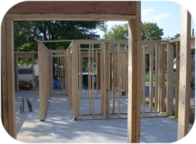 Habitat for Humanity House with Framing