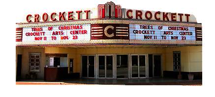 Front View of the Crockett Theater During the Day