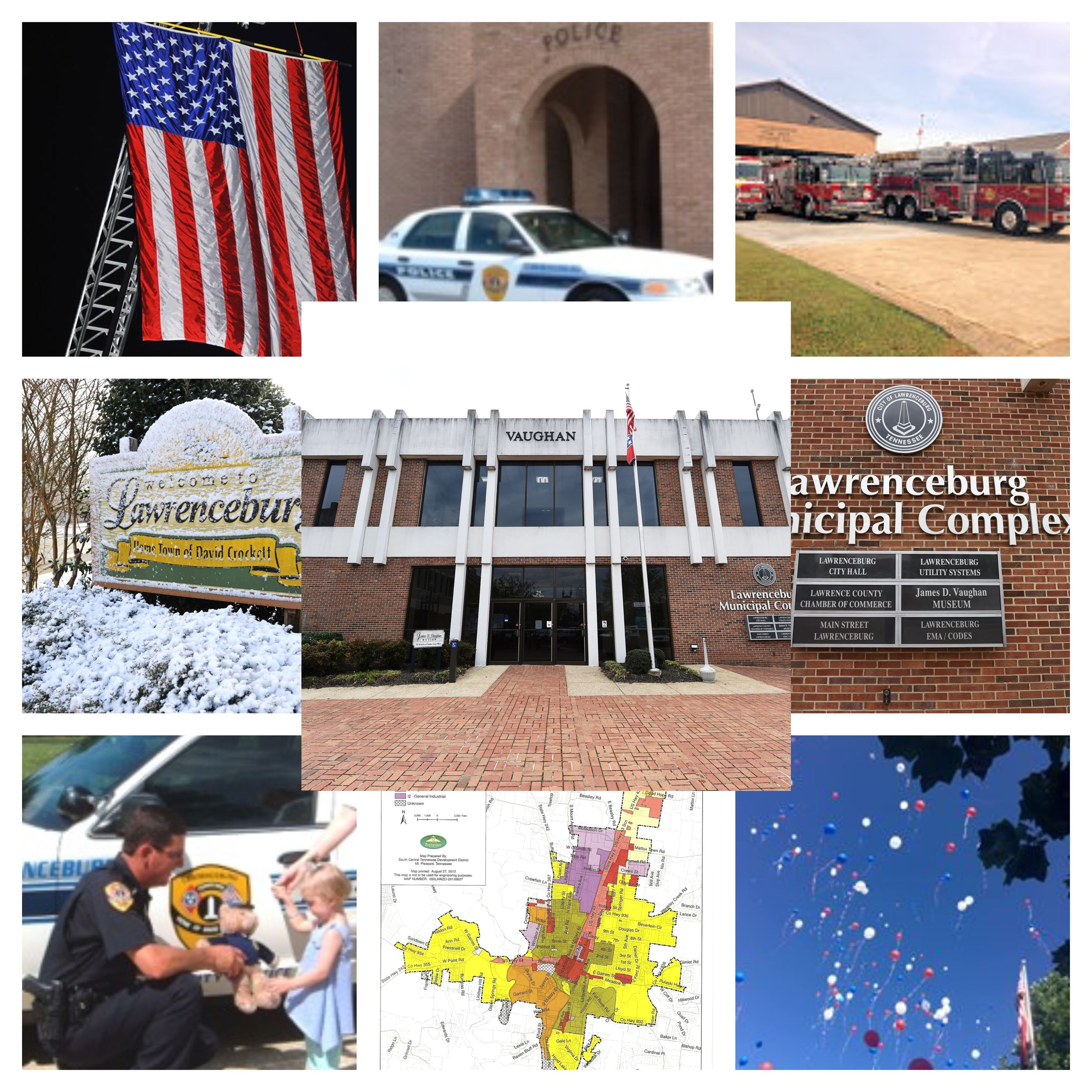 BeFunky collage of government entities