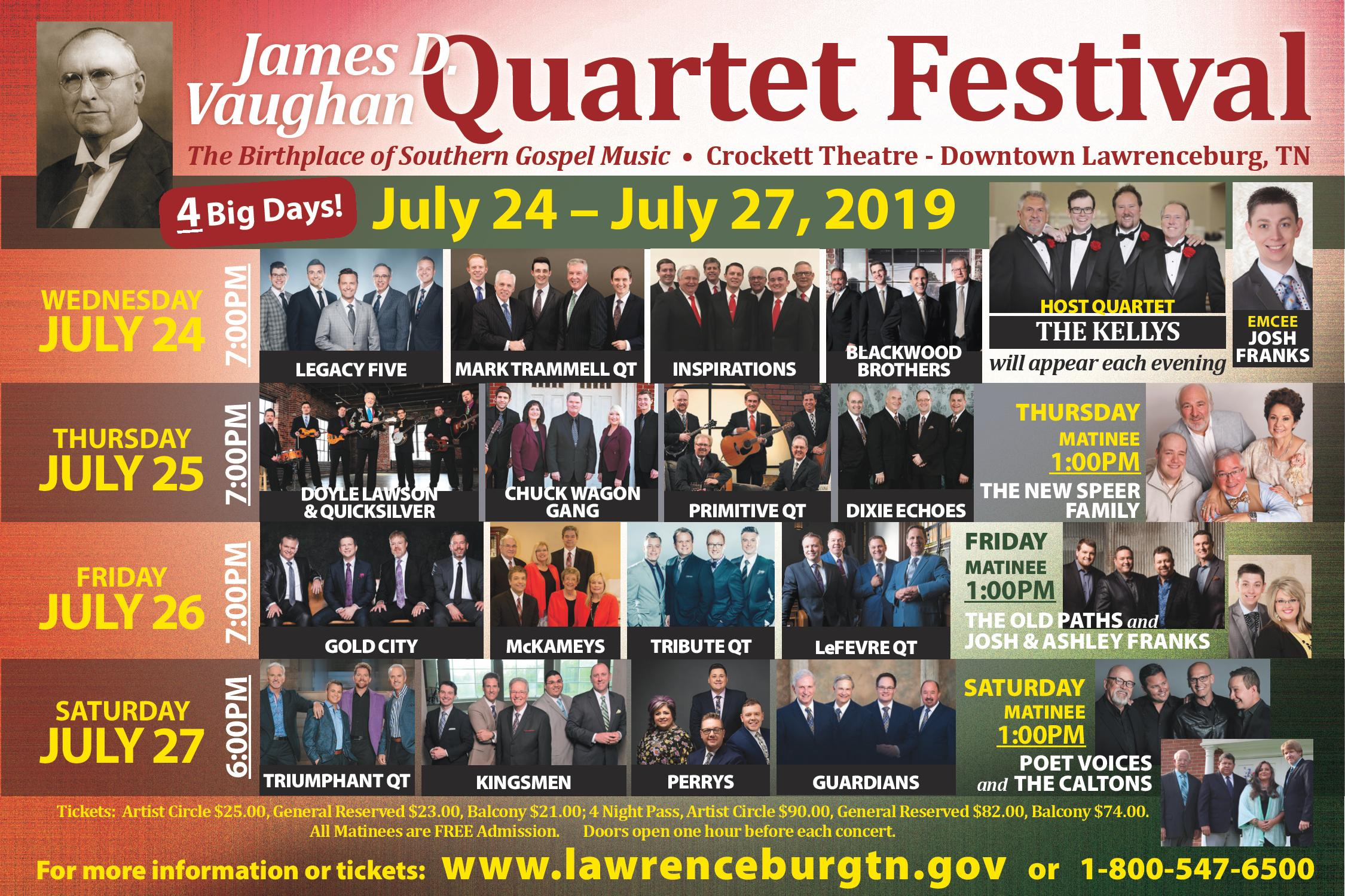 2019 Vaughan Festival Flyer