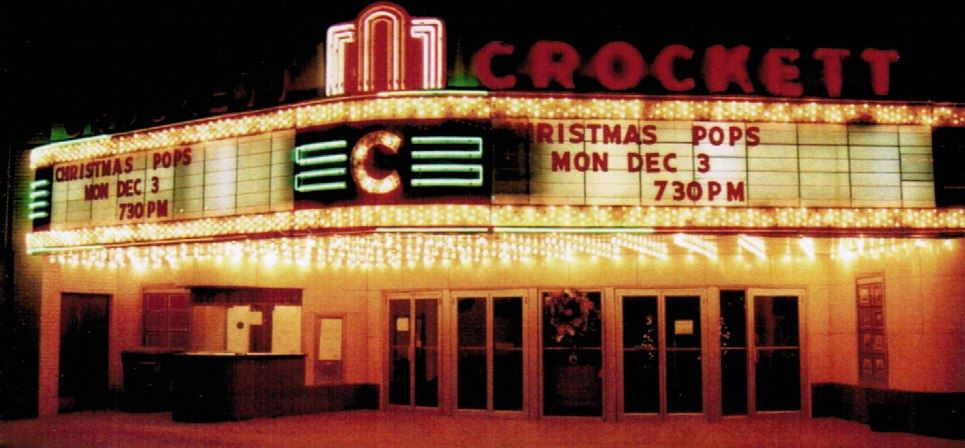 Front of Crockett Theatre