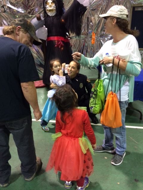 Family at Halloween Carnival