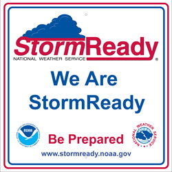 We are storm ready sign