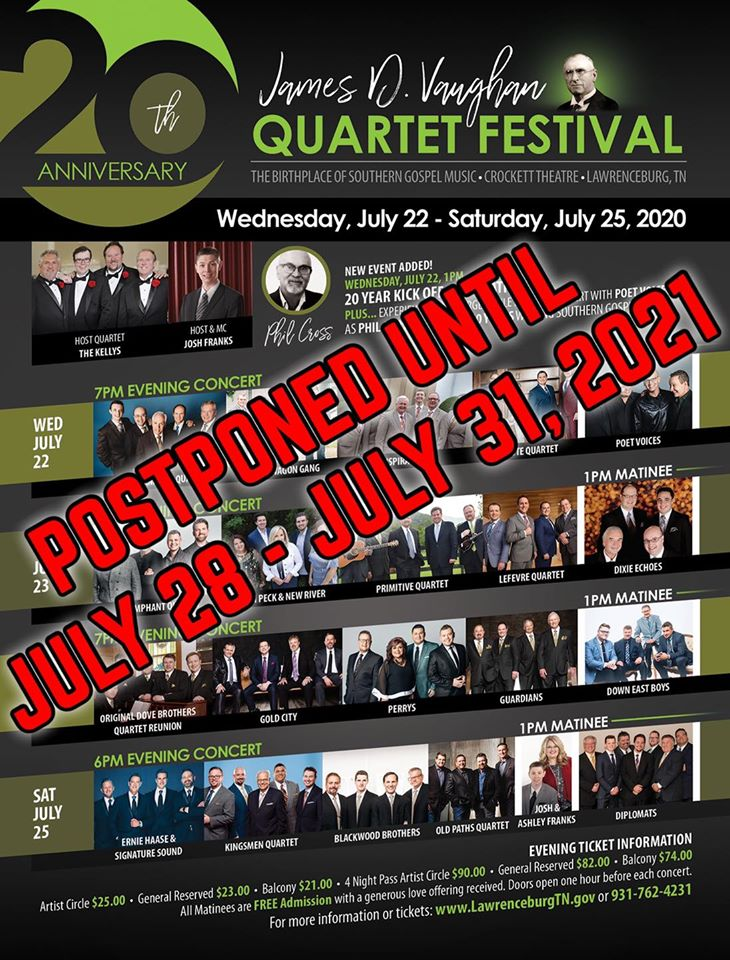Vaughan Festival Postponed Flyer